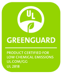 Our Greenguard certified badge