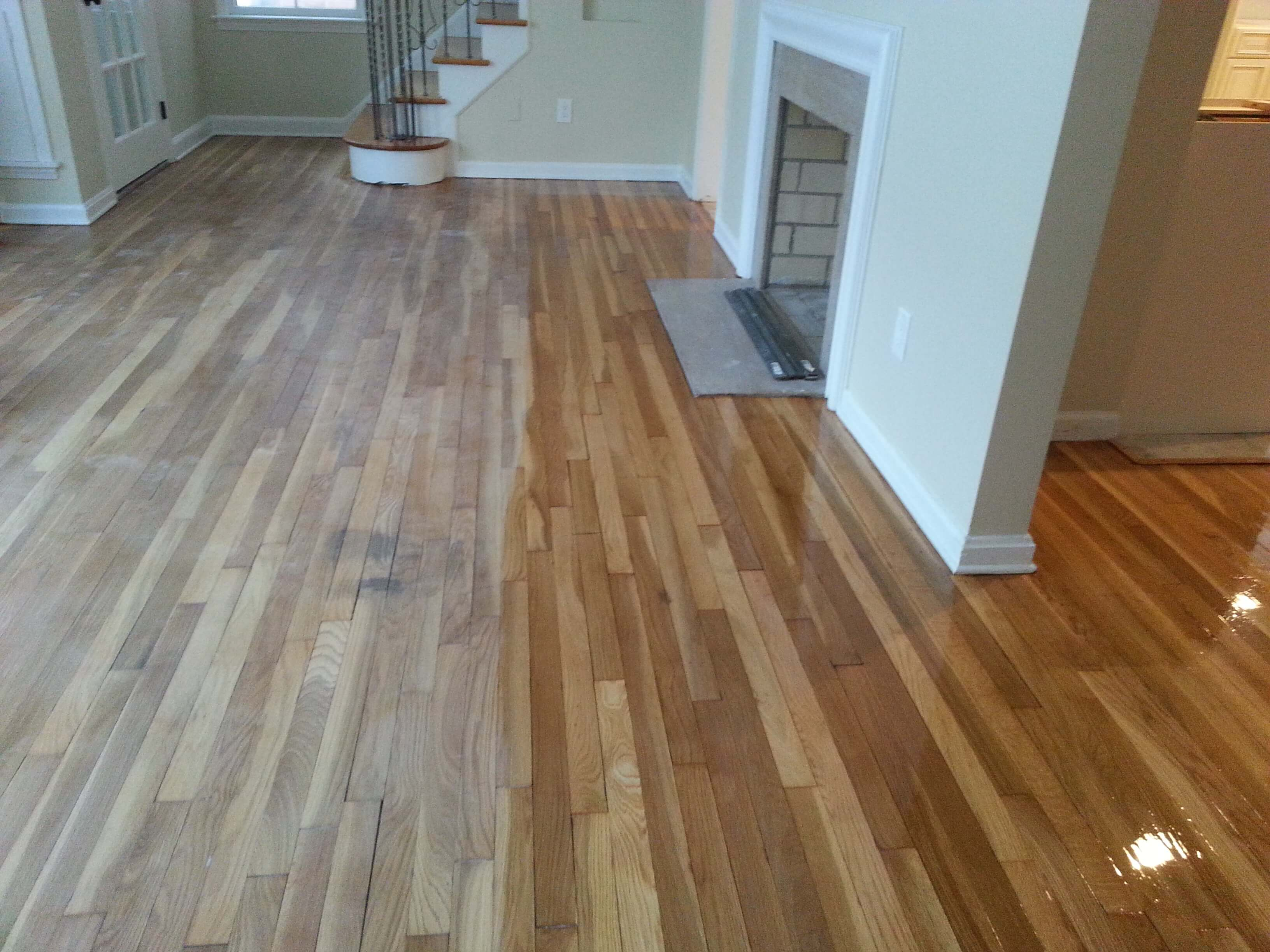 a hardwood floor resurfacing example