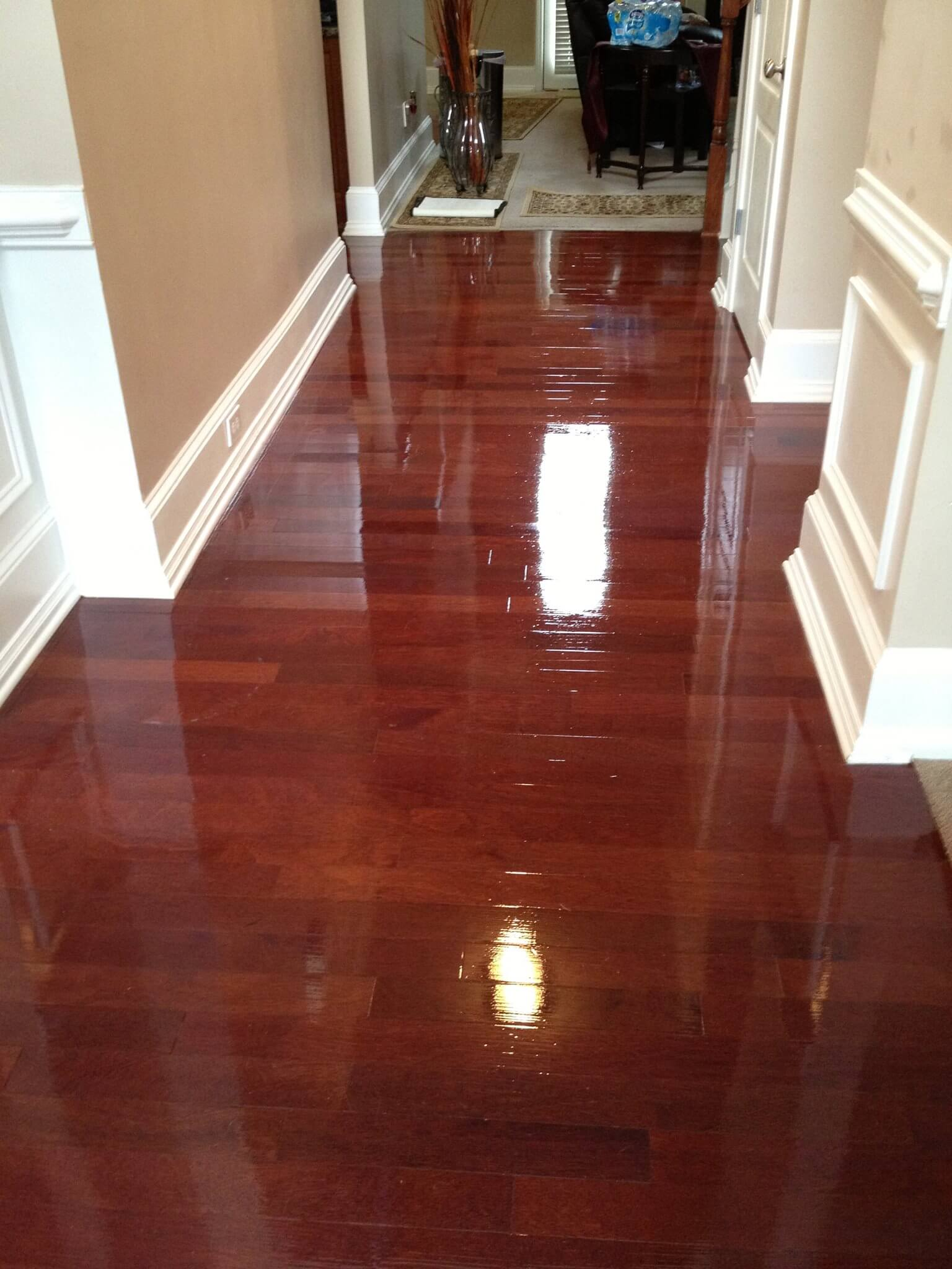 an image that shows that we can fix warping wood floors with our Houston floor refinishing service.