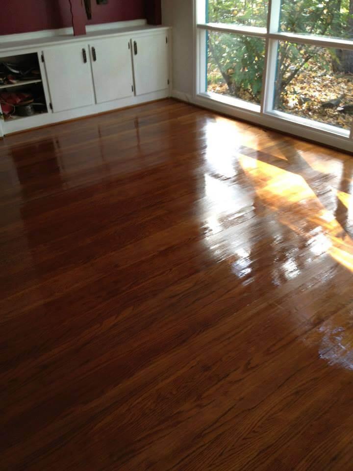 a resurfaced floor in a galveston bedroom
