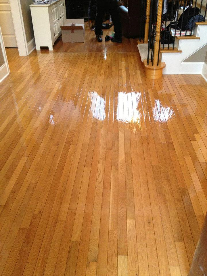 a resurfaced hardwood floor in the Spring, TX area