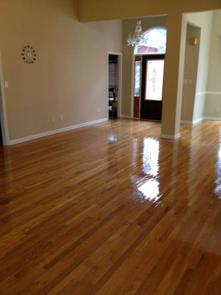 a image showing how we resurface hardwood floors