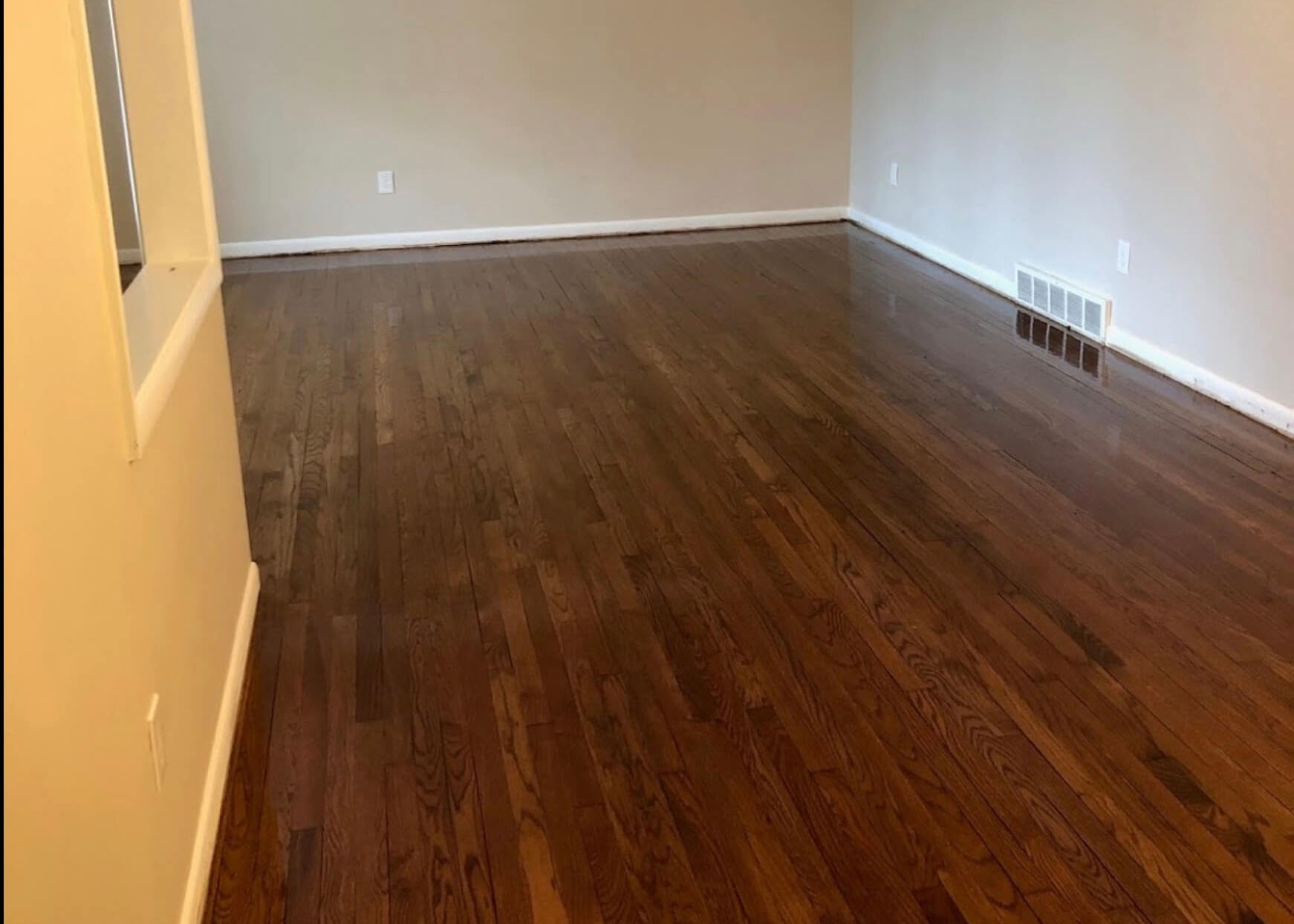 a refinished floor in a Houston Home