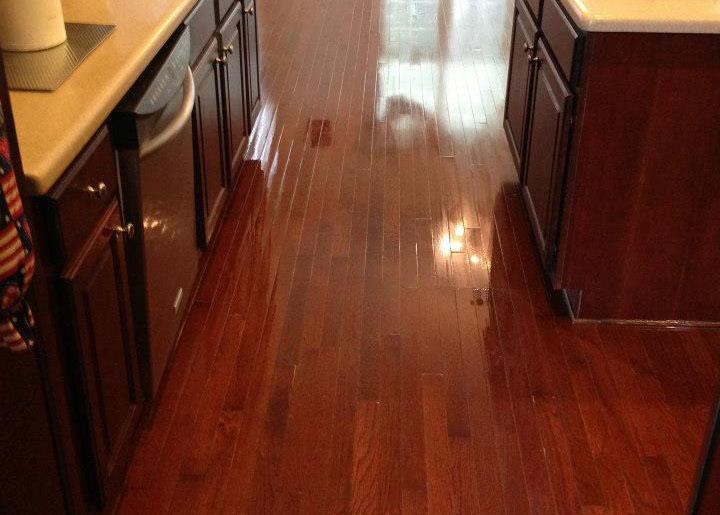 a beautiful floor after hardwood floor refinishing in Houston, TX