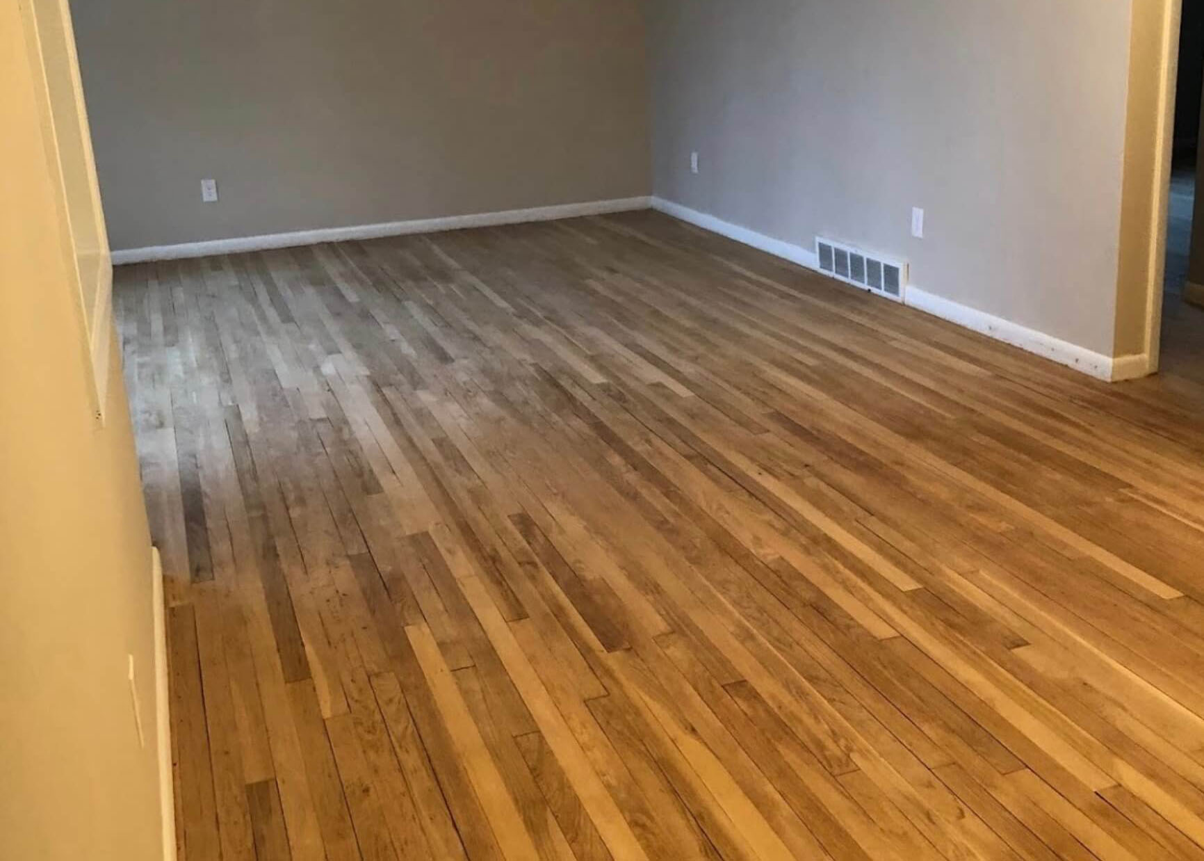 A floor that needs to be refinished in Houston