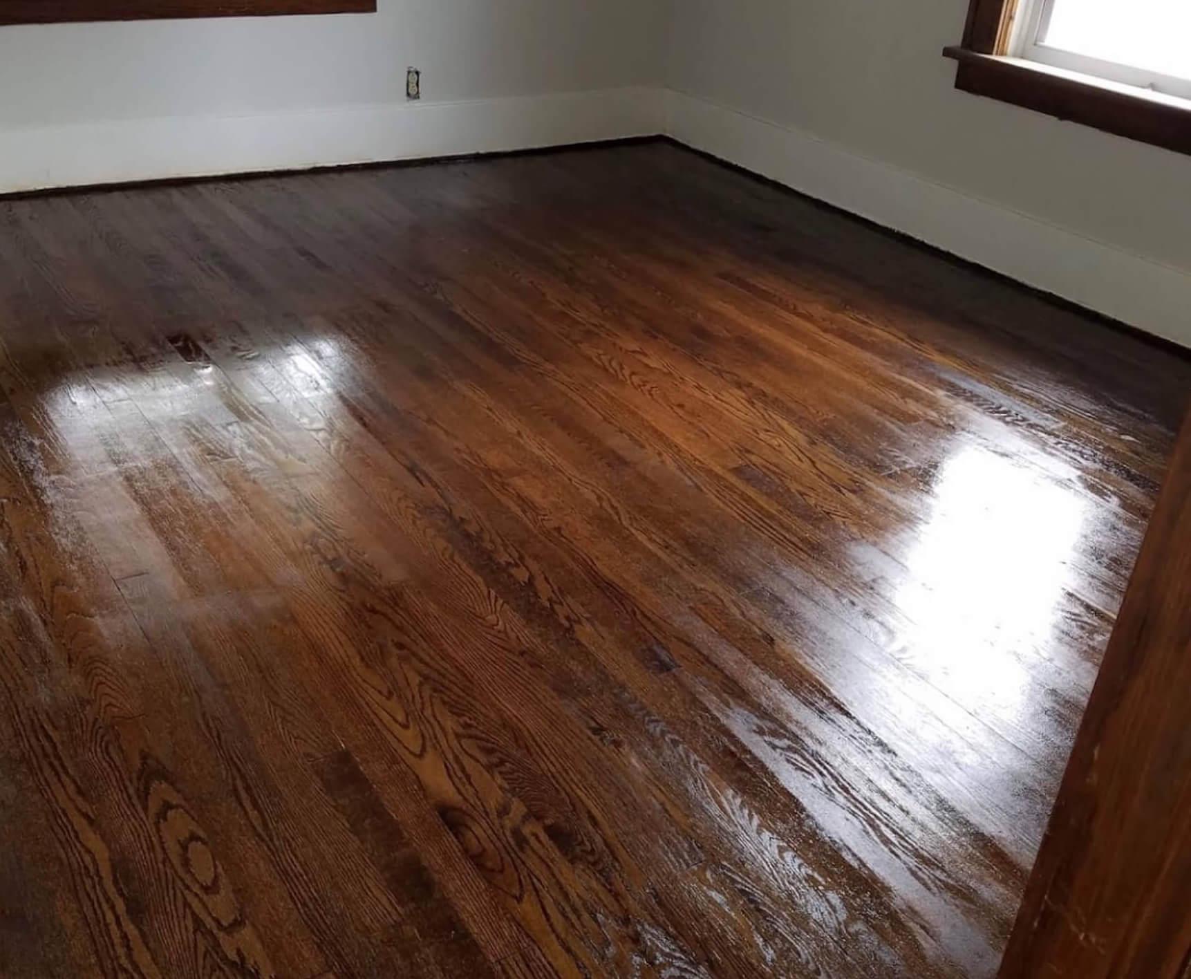 a beautifully resurfaced houston hardwood floor
